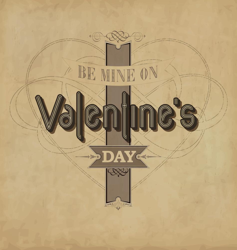 Calligraphic Valentines Design Template