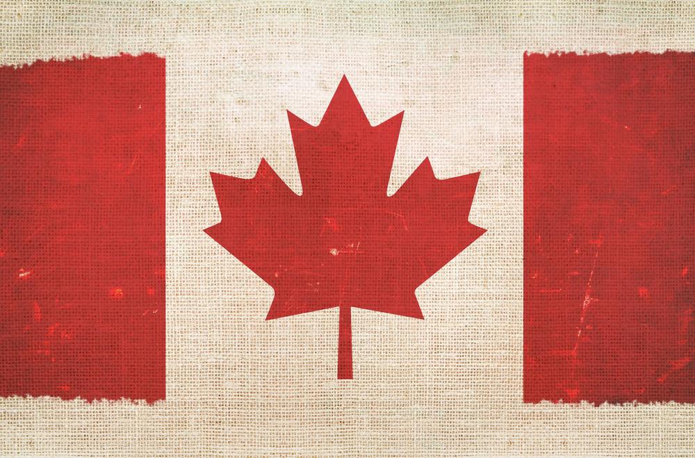 Canada Flag On Canvas