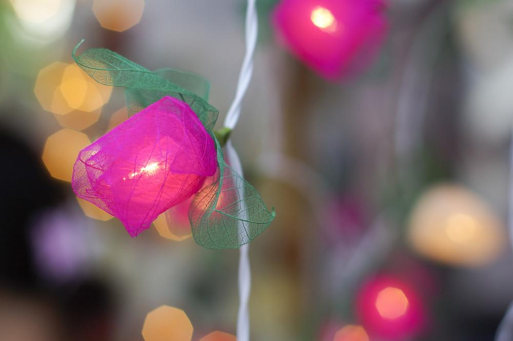 Candle light bulb decoration