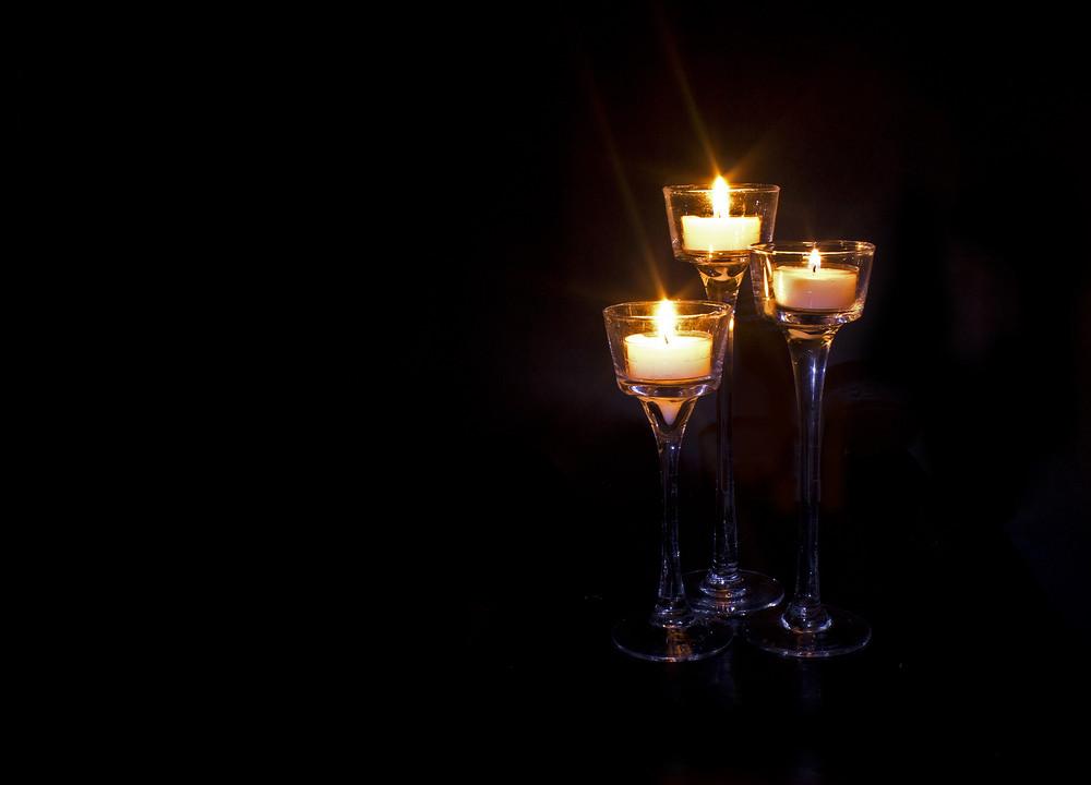 Candles Burning Background