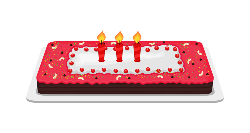 Candles On Anniversary Cake