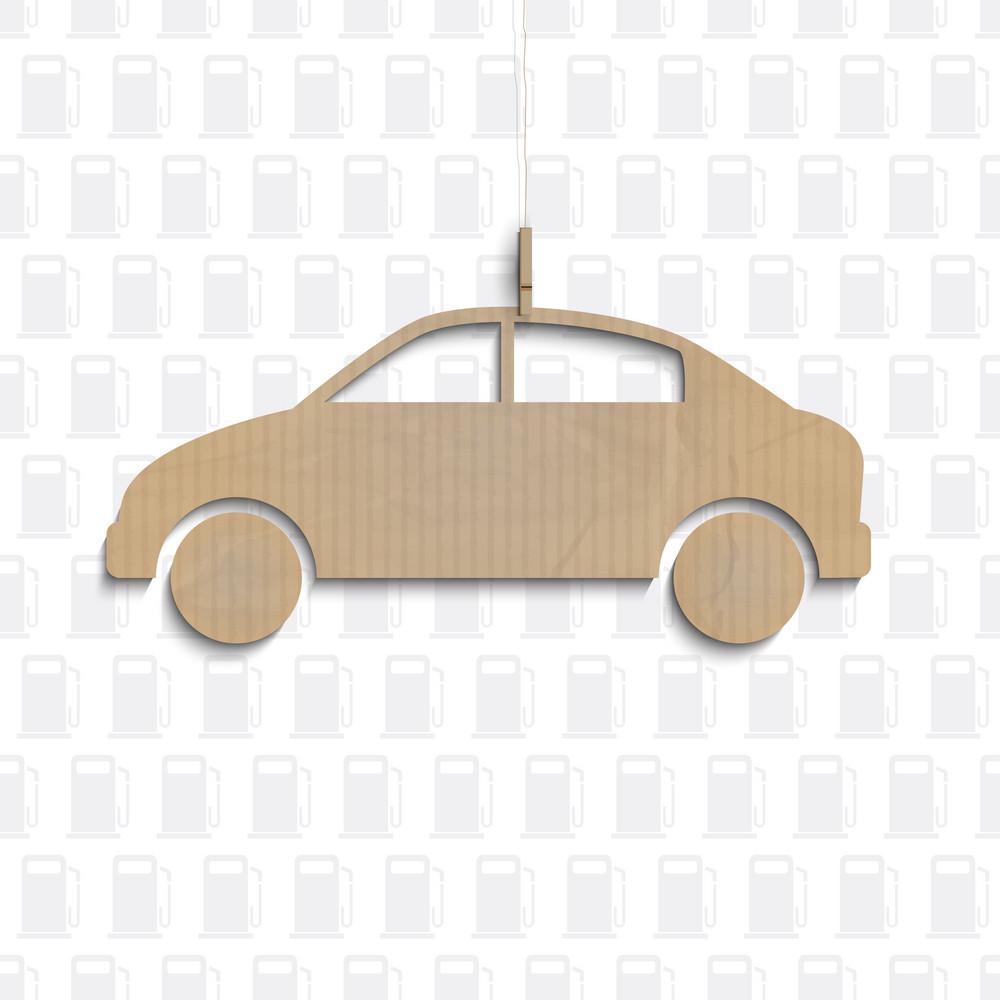 Car Cut Out Of Cardboard