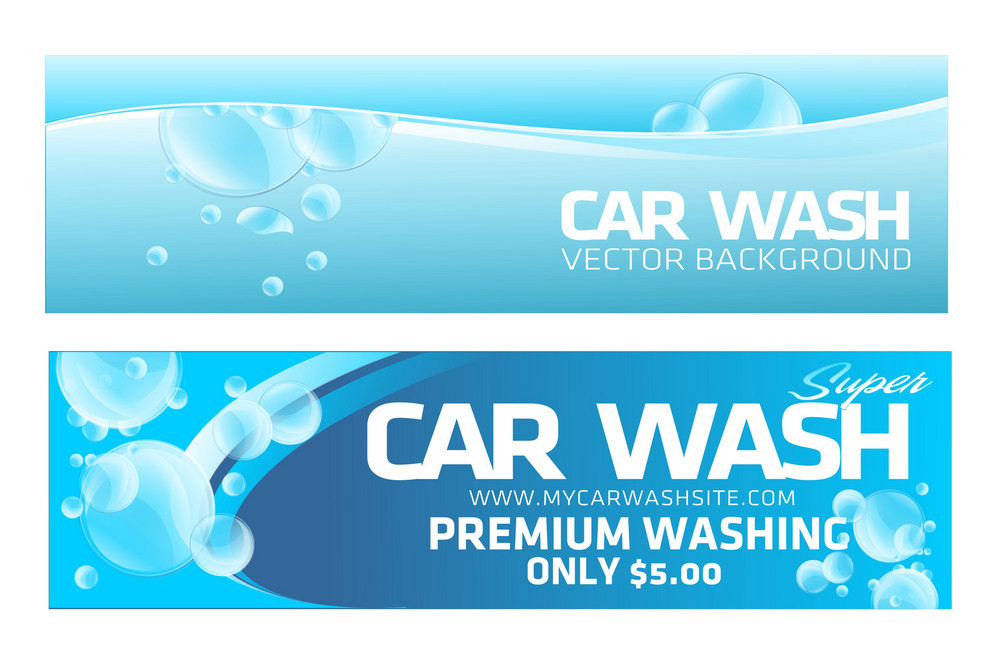 Car Wash Banners Royalty Free Stock Image Storyblocks Images