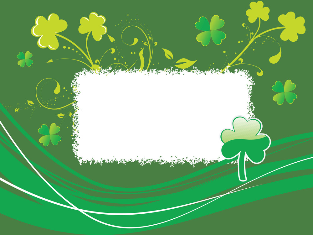 Card With Shamrock Flower Illustration 17 March