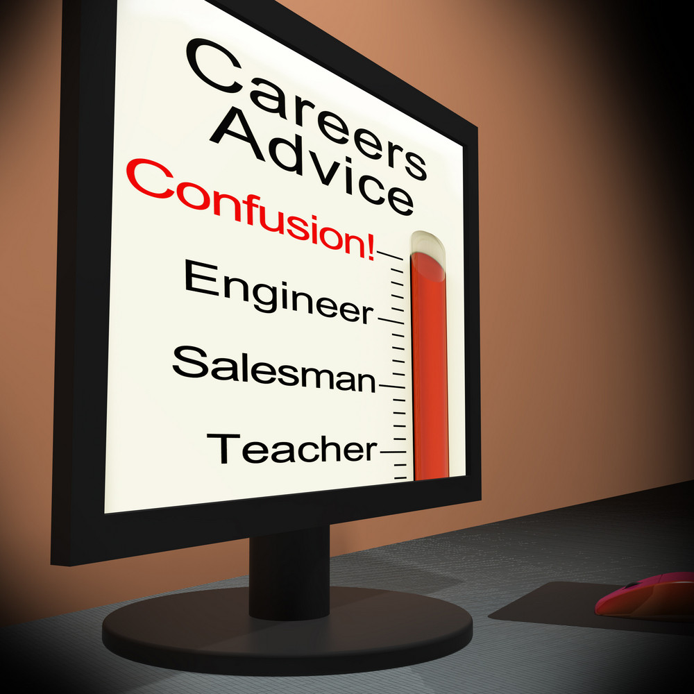 Careers Advice On Monitor Showing Guidance