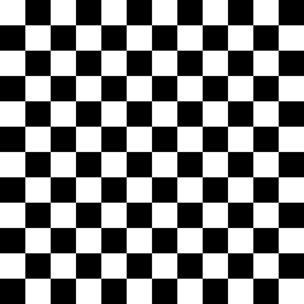 Black And White Checkerboard Car Pattern