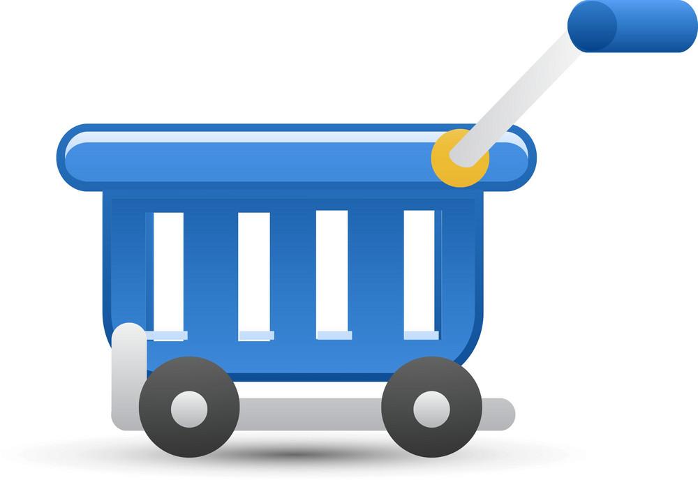 Cart Blue Lite Ecommerce Icon