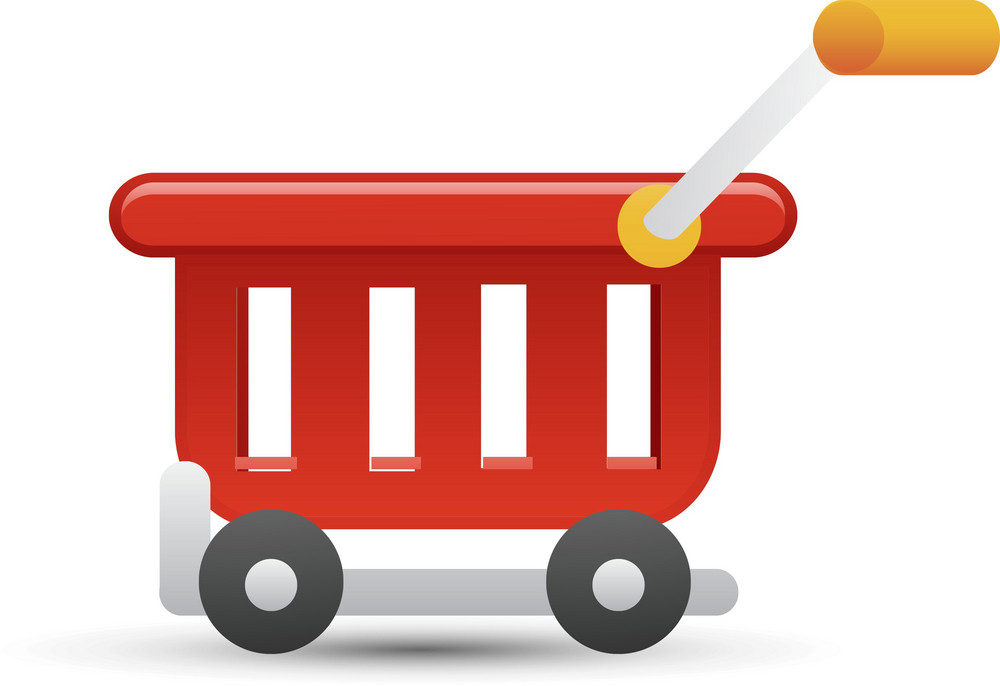 Cart Red Lite Ecommerce Icon