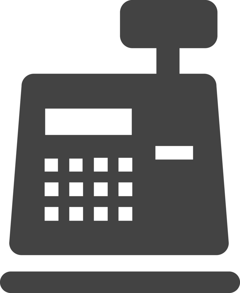 Cart Register Glyph Icon