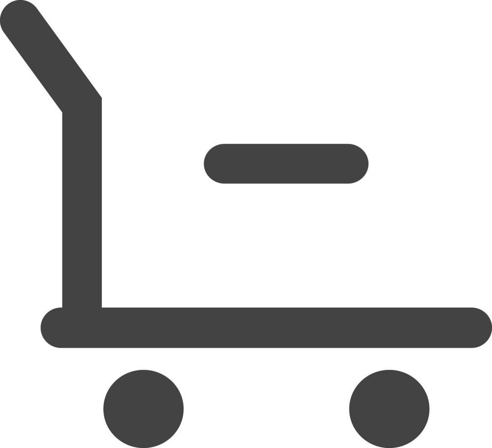 Cart Remove 1 Glyph Icon