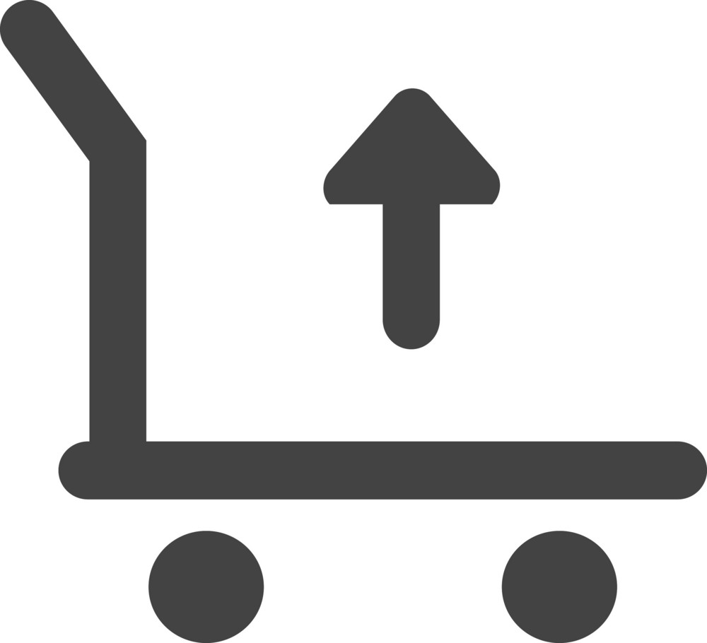 Cart Up Glyph Icon