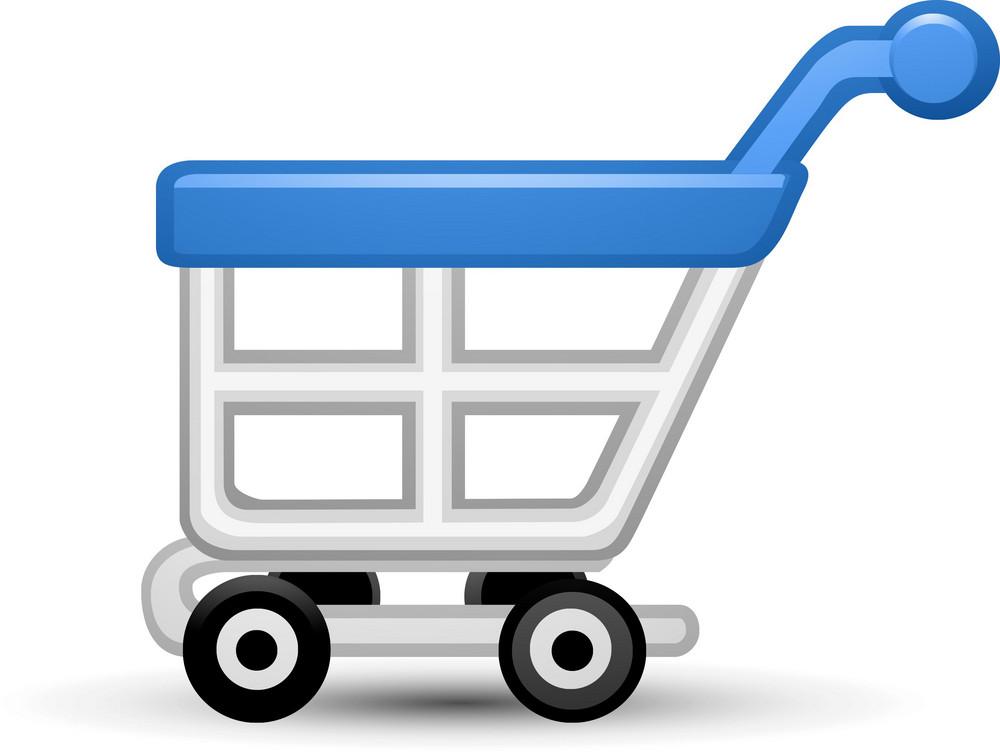 Cart1 Blue Lite Ecommerce Icon