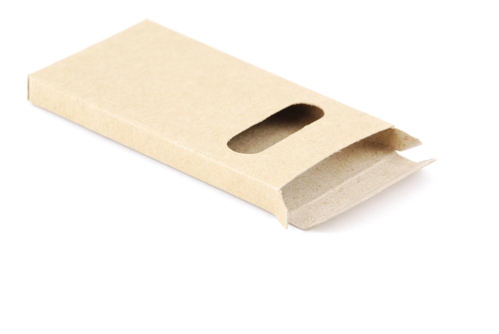 Carton Pencil Case On White