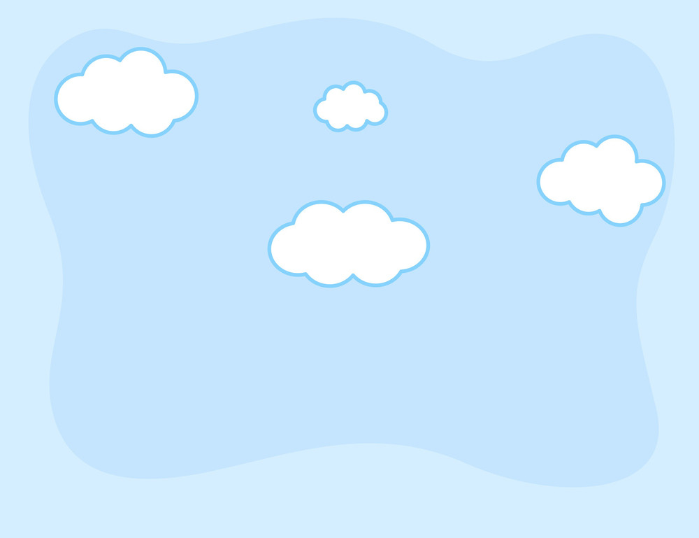 Cartoon Background - Comic Clouds In Sky