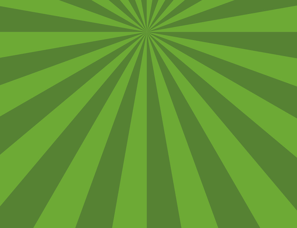 Cartoon Background - Green Sunburst