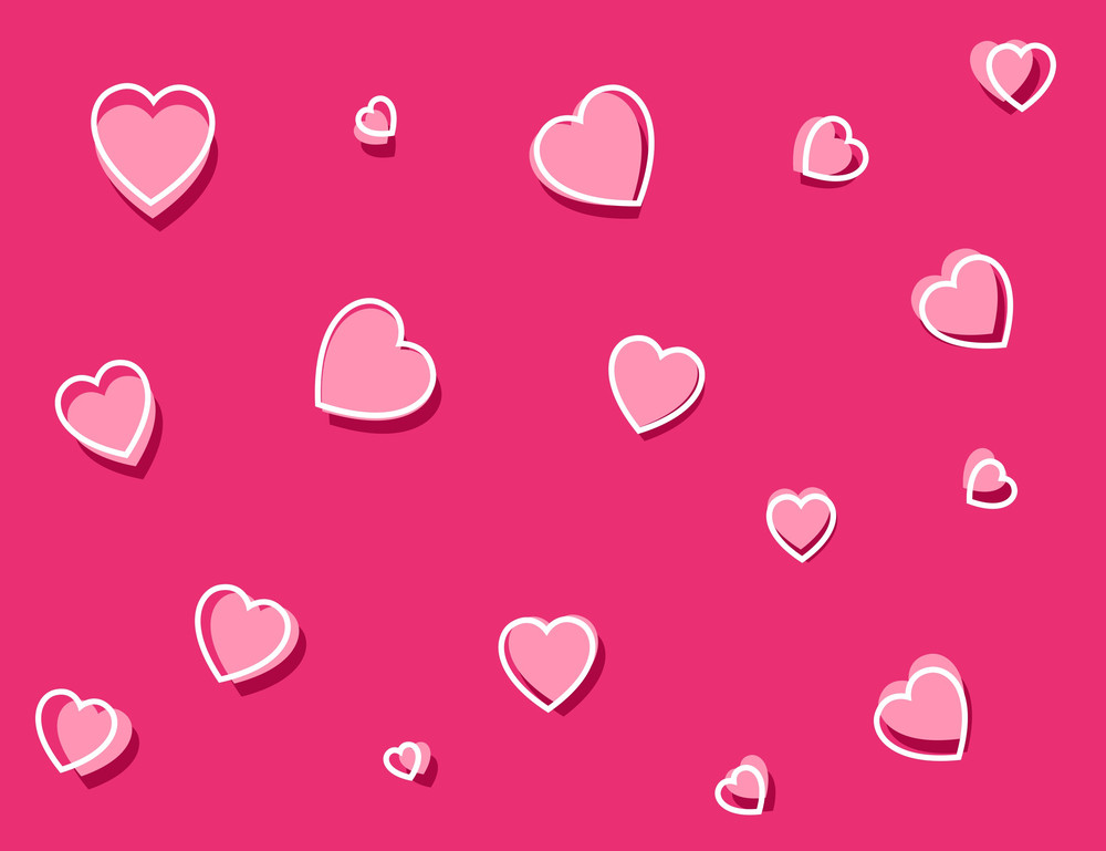Cartoon Background - Hearts Pattern