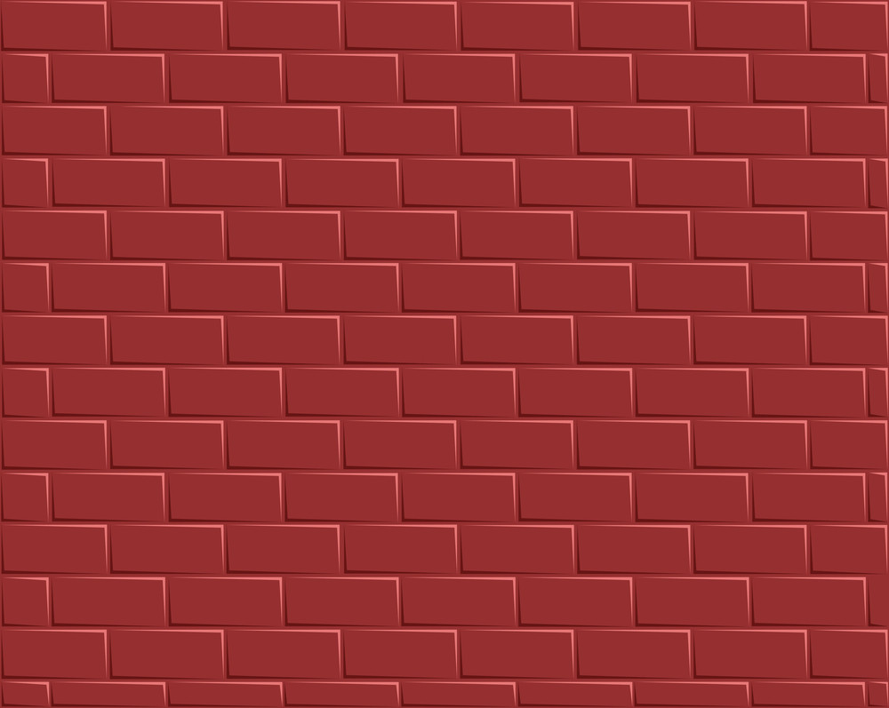Cartoon Background - Red Bricks Wall