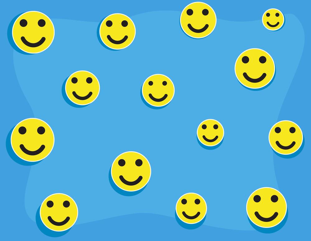 Cartoon Background - Smileys Pattern