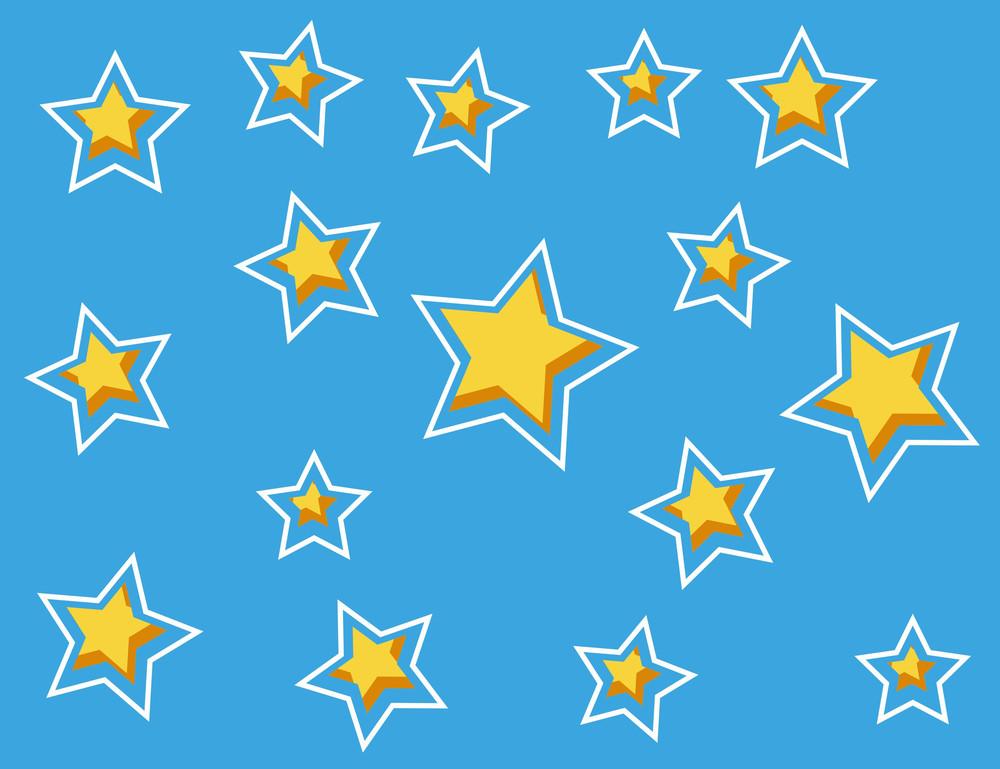 Cartoon Background - Star Pattern