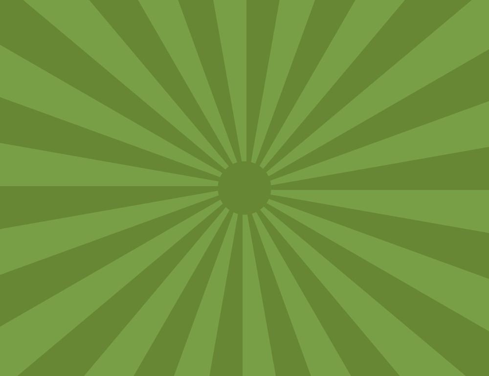 Cartoon Background - Sunrays Green