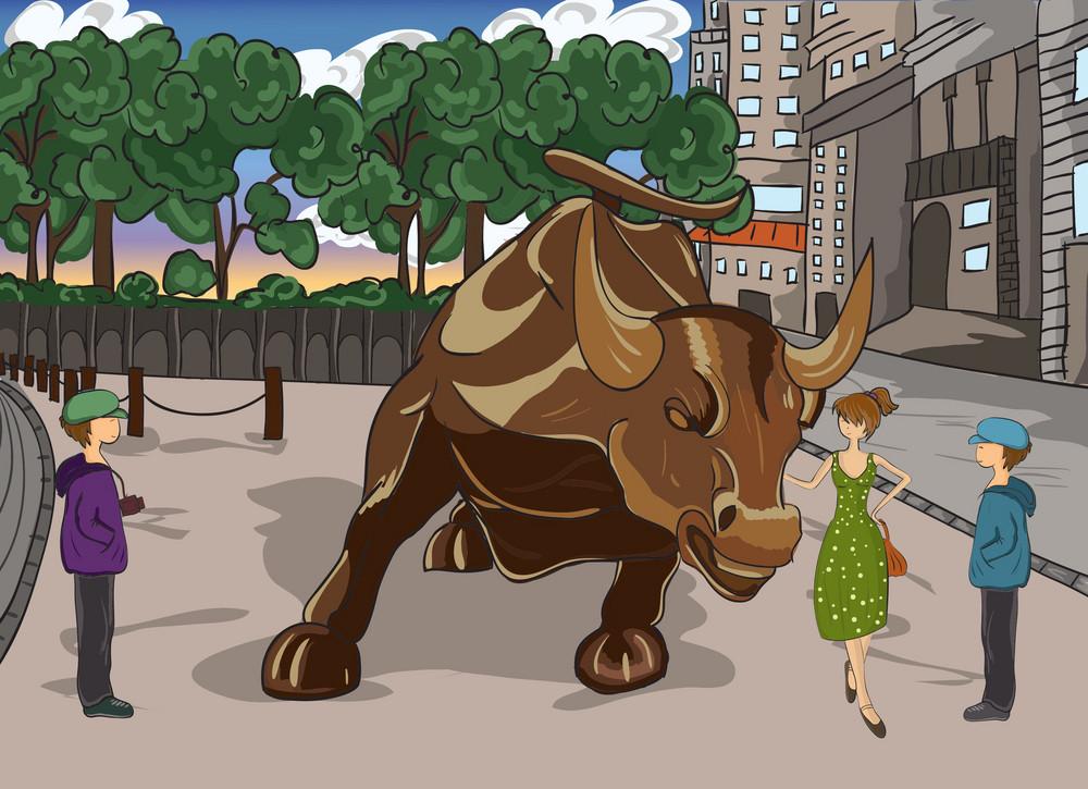 Cartoon Background Vector Illustration