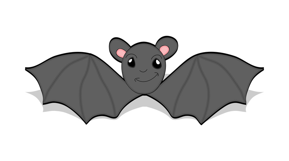 Cartoon Bat Flying