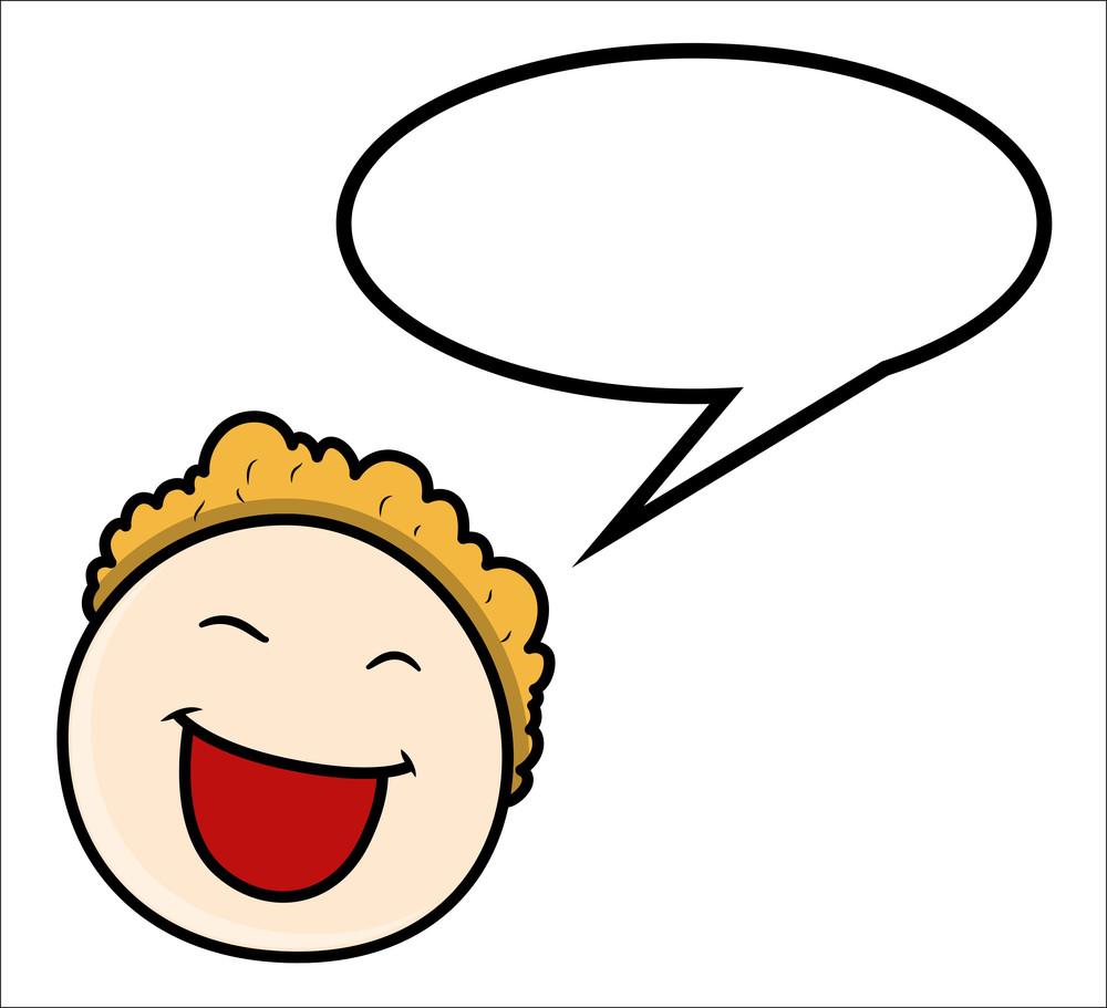 Cartoon Boy - Speech Bubble - Vector Illustrations