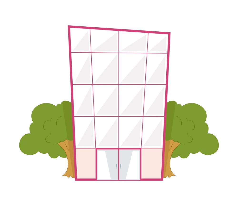 Cartoon Business Building