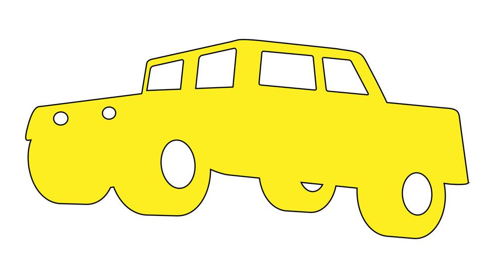 Cartoon Car Shape