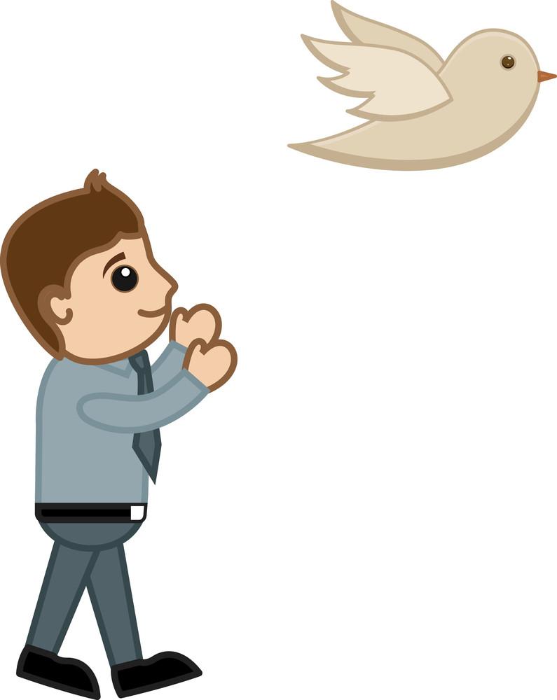 Cartoon Character - Free The Bird Concept