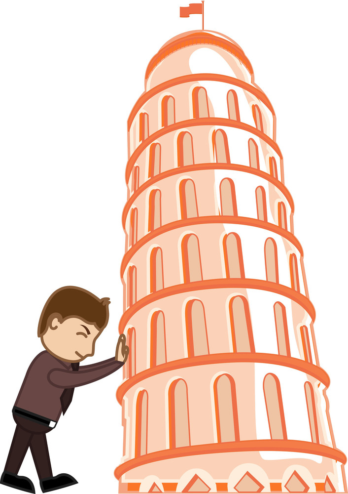 Cartoon Character - Pisa Tower