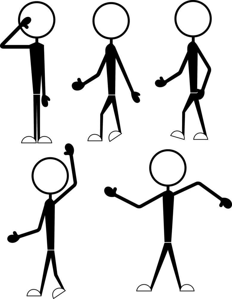 Cartoon Characters Stick Figures