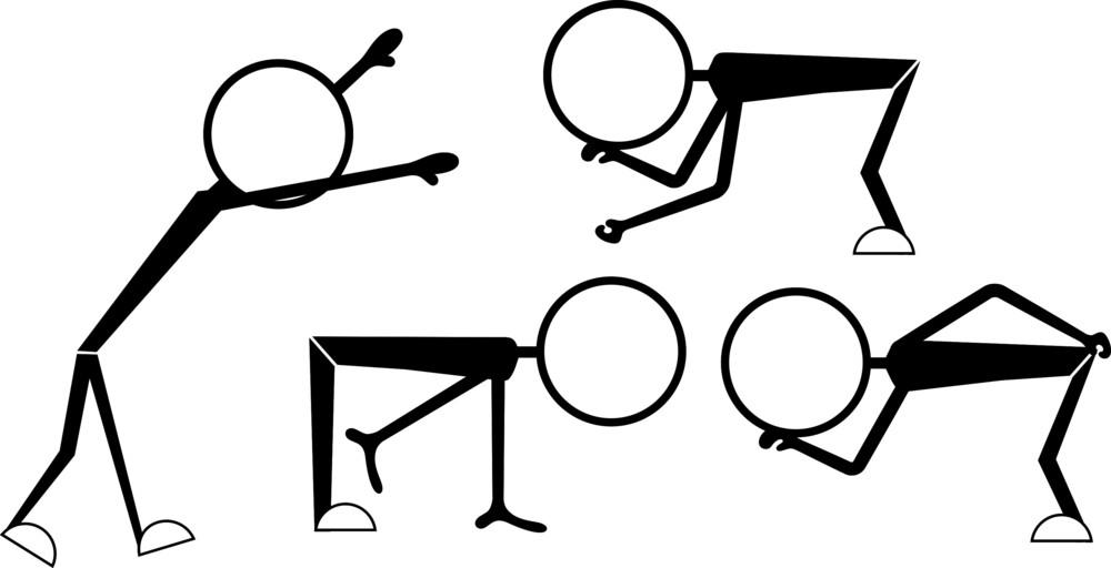 Cartoon Characters Various Poses