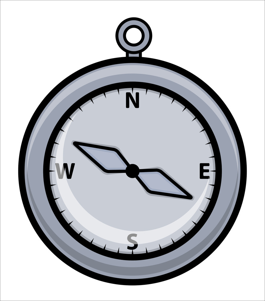 Cartoon Compass - Vector Illustration