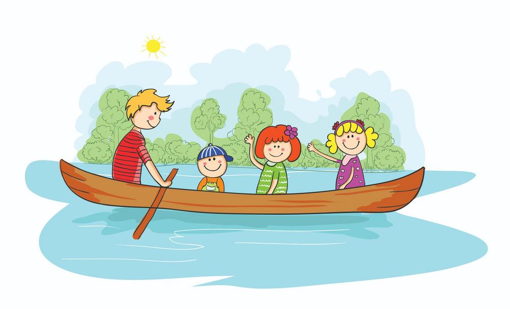 Cartoon Family Background Vector Illustration