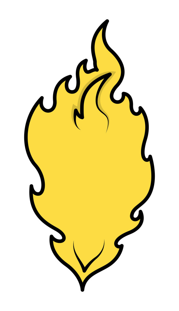 Cartoon Flame Perfect For Illustration Background Vector Illustration