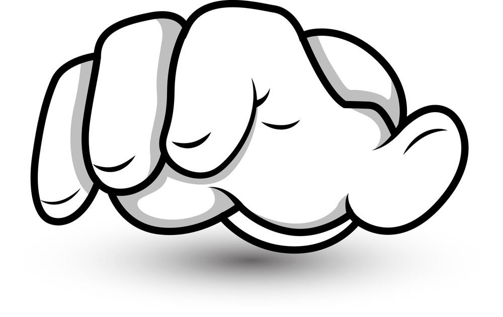 Cartoon Hand - Fingers Pointing - Vector Illustration