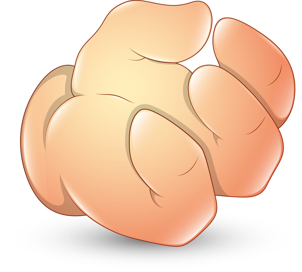 Cartoon Hand Gesture - Vector Illustration