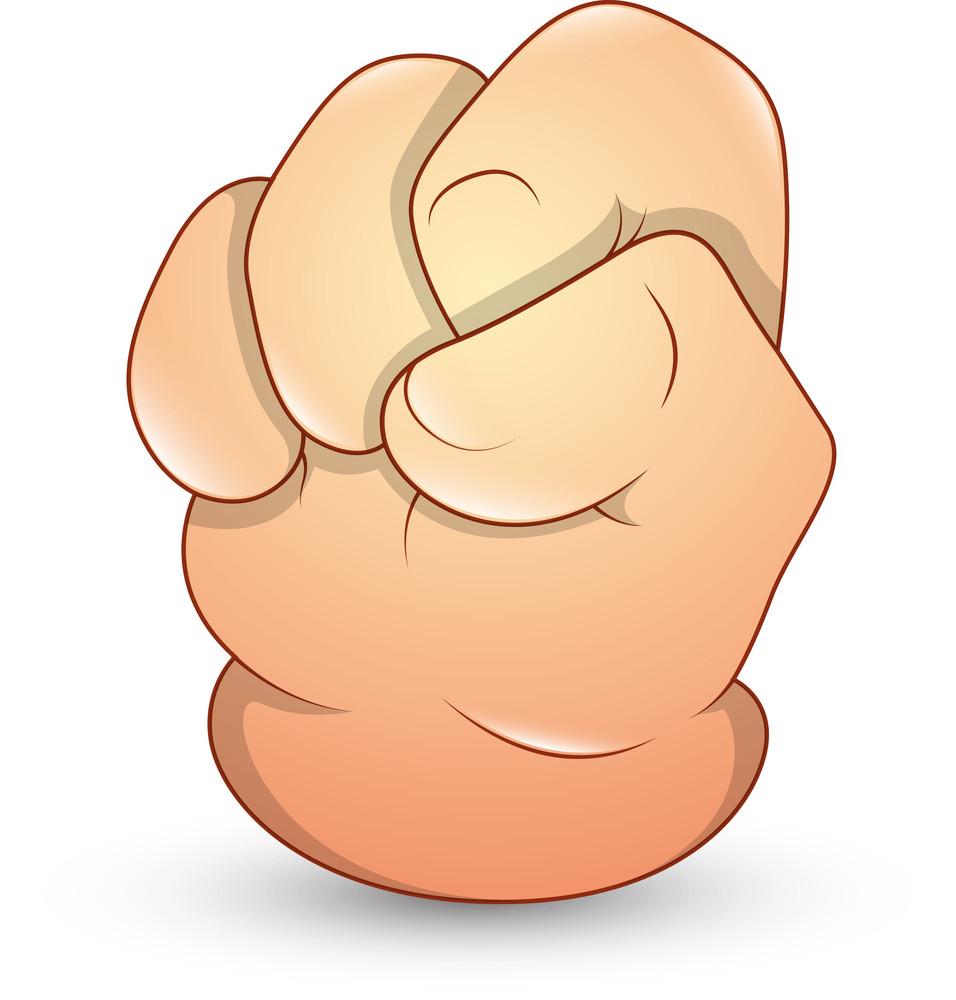 Cartoon Hand - Punch - Vector Illustration