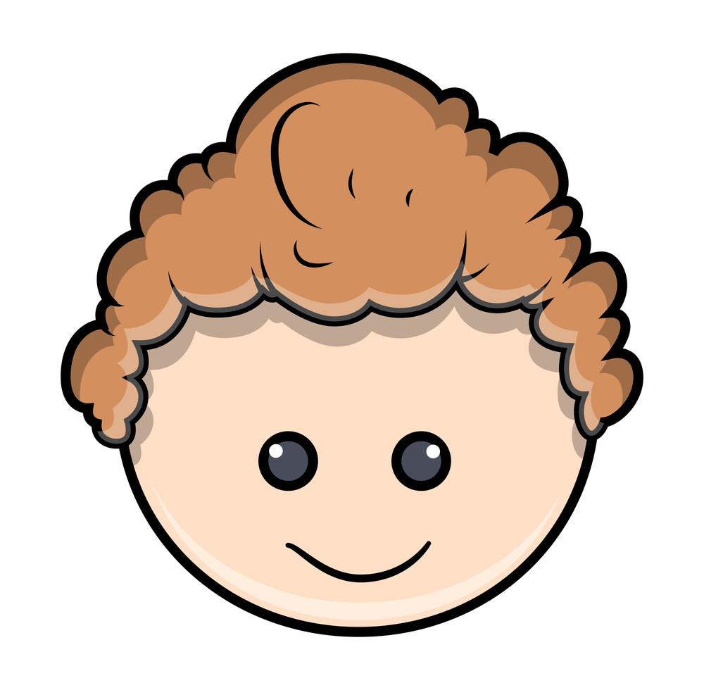 Cartoon Happy Boy Face