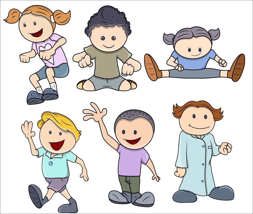 Cartoon Kids In Cute Styles