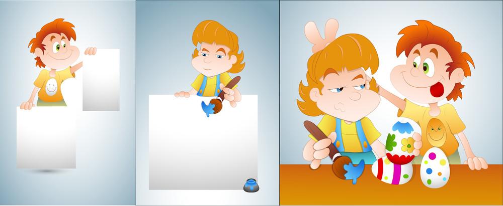 Cartoon Kids Vectors