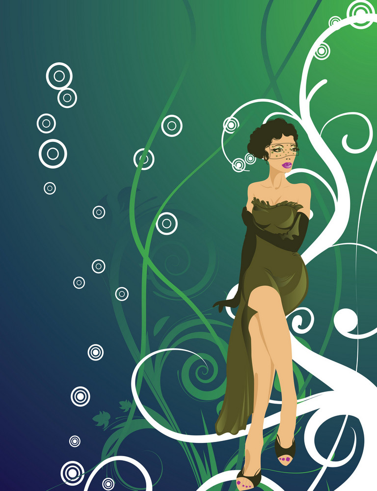Cartoon Lady