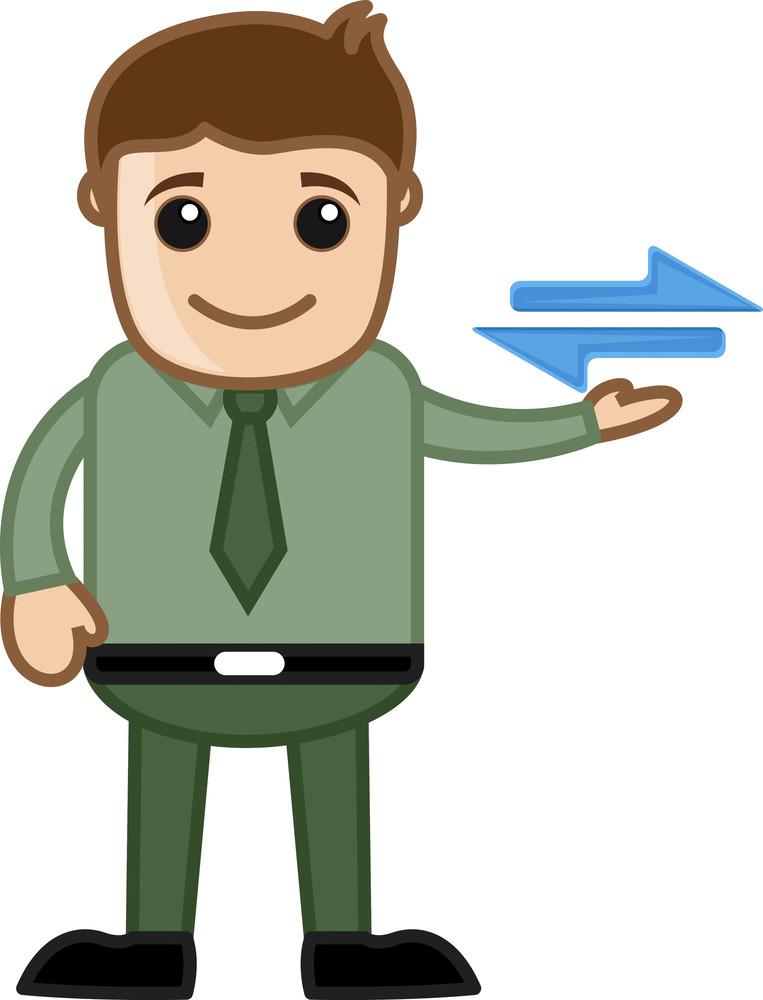 Cartoon Man Showing Connectivity Sign Vector