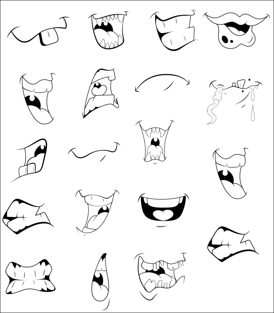 Cartoon Mouths Vectors