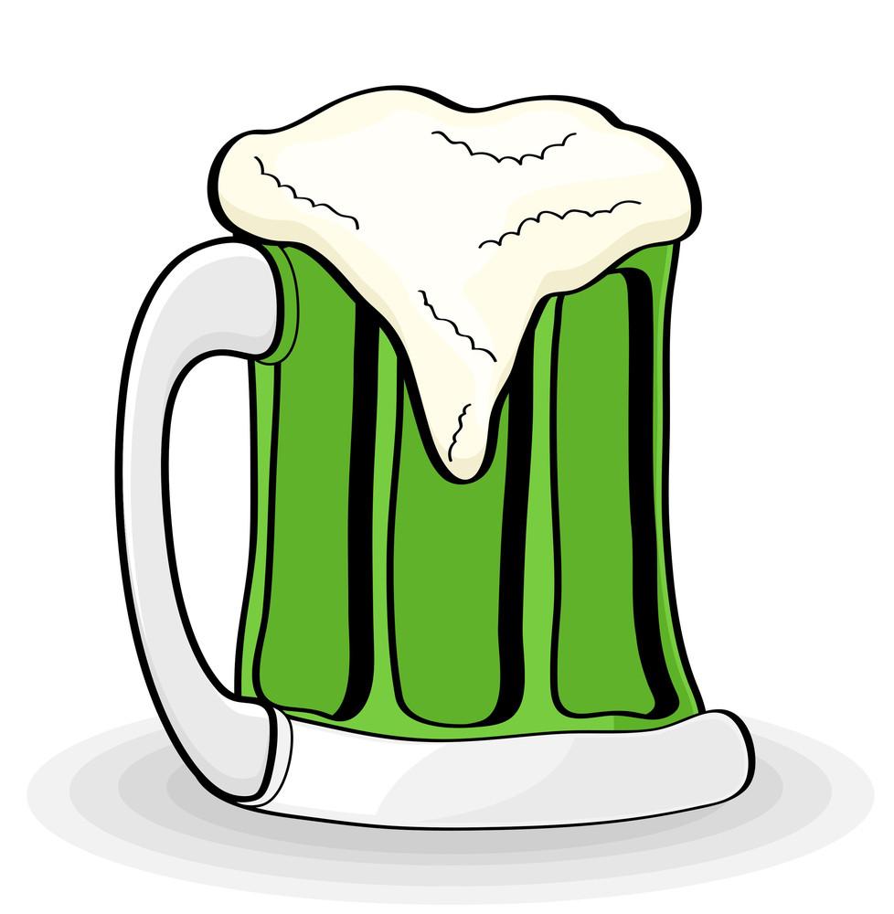 Cartoon Retro Beer Glass