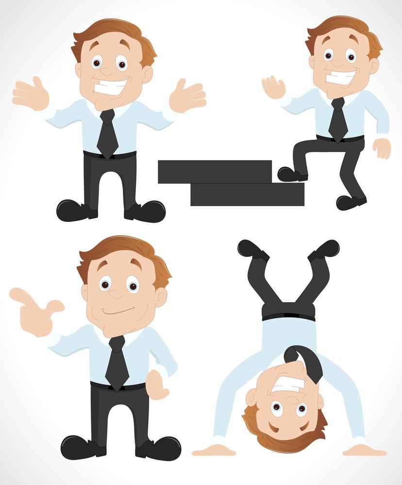 Cartoon Salesman Vectors