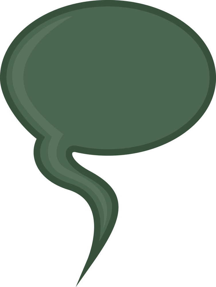 Cartoon Speech Bubble Element