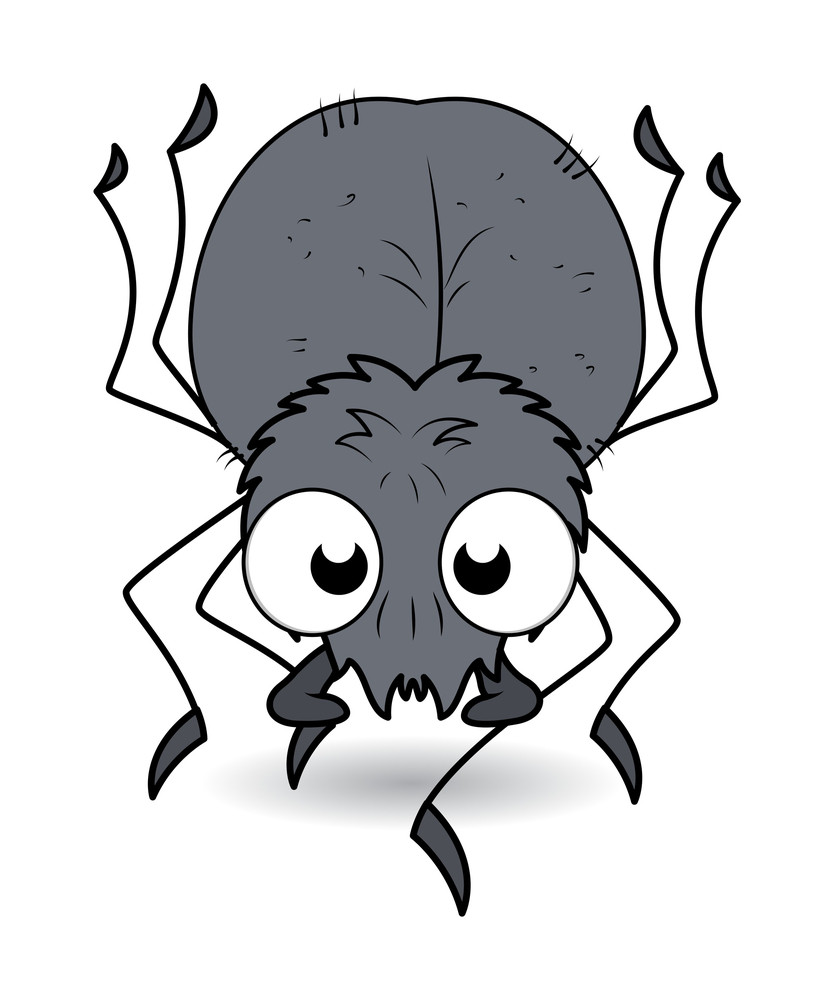 Cartoon Spider - Halloween Vector Illustration