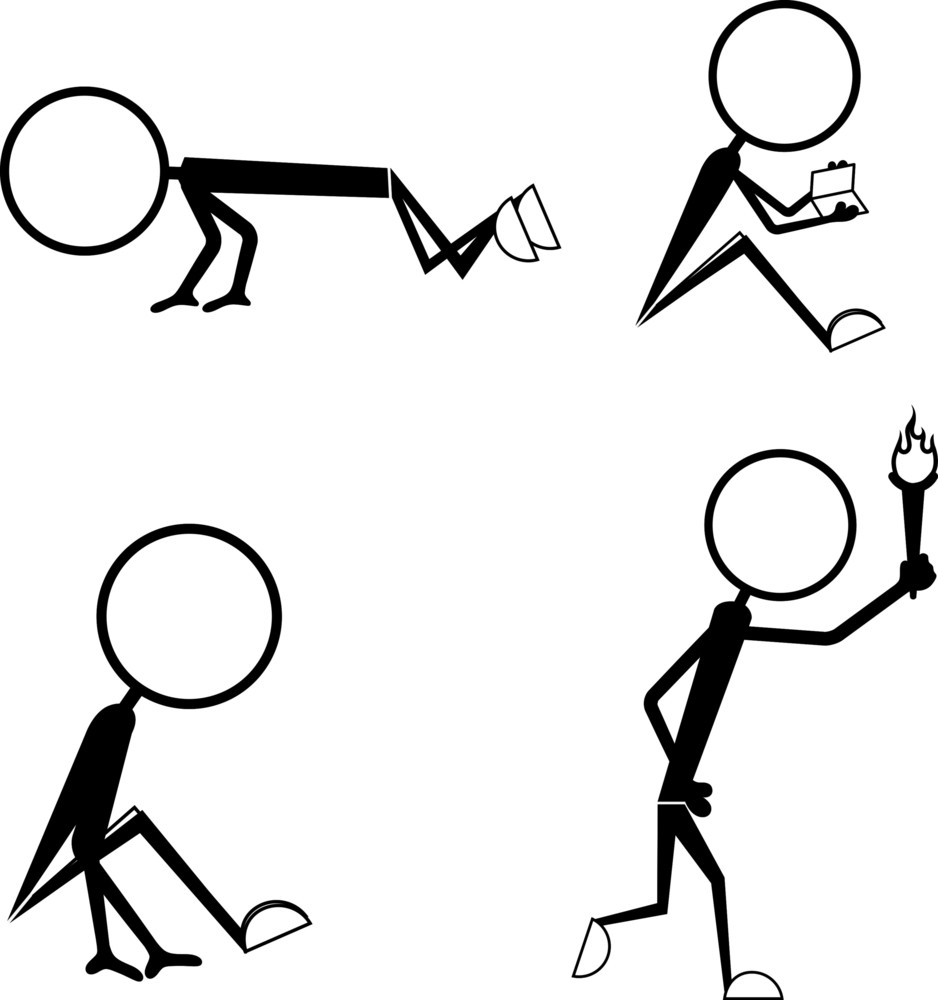 Cartoon Stick Figure Actions
